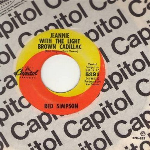 Simpson, Red - Jeannie With The Light Brown Cadillac/I've Just Lost You (with vintage Capitol company sleeve) - EX8/ - 45 rpm Records