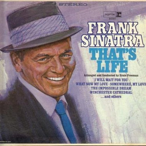 Sinatra, Frank - That's Life: I Will Wait For You, Somwhere My Love, Winchester Cathedral, Tell Her (You Love Her Each Day), The Impossible Dream (Vinyl STEREO LP record)  - EX8/EX8 - LP Records