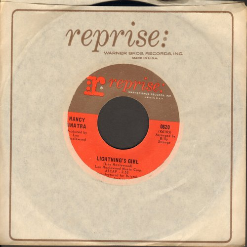 Sinatra, Nancy - Lightning's Girl/Until It's Time For You To Go (with Reprise company sleeve) - VG7/ - 45 rpm Records