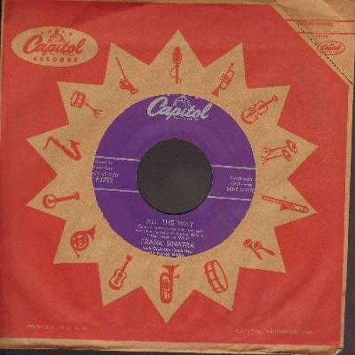 Sinatra, Frank - All The Way/Chicago (purple label first issue with vintage Capitol company sleeve) - NM9/ - 45 rpm Records