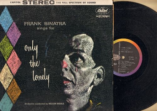 Sinatra, Frank - Only The Lonely: Gone With The Wind, Blues In The Night, One For My Baby, Ebb Tide, What's New, Angel Eyes (Vinyl STEREO LP record, raibow label) - EX8/VG7 - LP Records