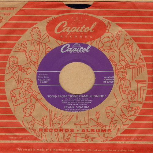 Sinatra, Frank - Song From Some Came Running/No One Ever Tells You (purple label first issue, MINT condition with vintage Capitol company sleeve) - EX8/ - 45 rpm Records