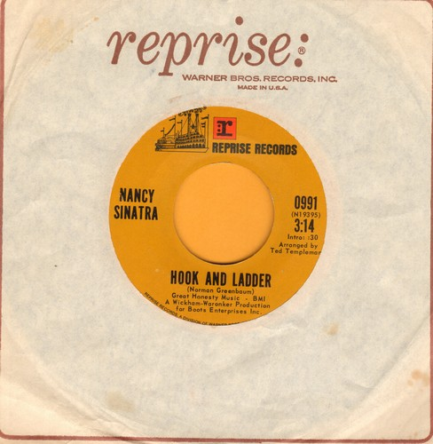 Sinatra, Nancy - Hook & Ladder/Is Anybody Going To San Antone? (with Reprise company sleeve) - VG7/ - 45 rpm Records