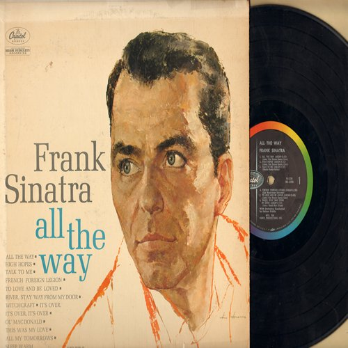 Sinatra, Frank - All The Way: High Hopes, Witchcraft, River Stay 'Way From My Door (Vinyl MONO LP record, tape on cover) - EX8/VG7 - LP Records
