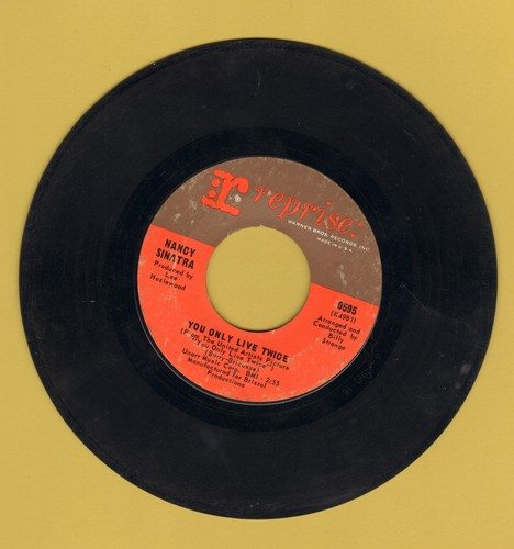 Sinatra, Nancy - You Only Live Twice (From James Bond Film of same title)/Jackson  - VG7/ - 45 rpm Records