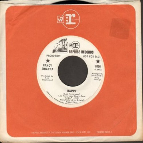 Sinatra, Nancy - Nice 'N Easy/Happy (DJ advance pressing with Reprise copmpany sleeve) - M10/ - 45 rpm Records