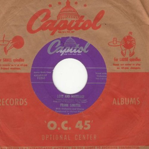 Sinatra, Frank - Love And Marriage/The Impatient Years (with vintage Capitol company sleeve) - EX8/ - 45 rpm Records