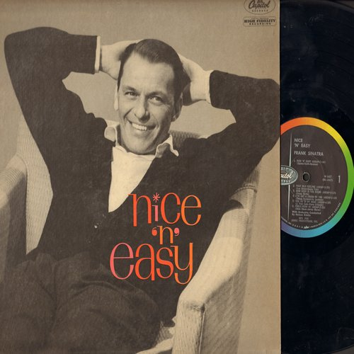 Sinatra, Frank - Nice 'N' easy: How Deep Is The Ocean, Embraceable You, You Go To My Head, Fools Rush In (Vinyl MONO LP record, rainbow circle label) - NM9/EX8 - LP Records