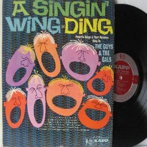 Guys And Gals - A Singin' Wing-Ding: Ain't She Sweet, Five Foot Two, Marie, Side By Side, Side By Side, Bicycle Built For Two (Vinyl MONO LP record) - EX8/VG7 - LP Records