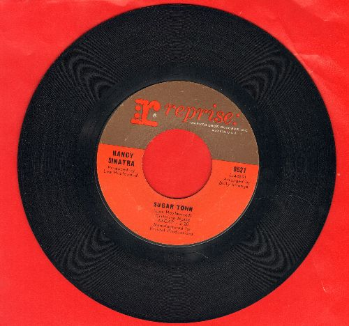 Sinatra, Nancy - Sugar Town/Summer Wine - VG7/ - 45 rpm Records