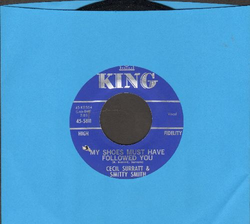 Surratt, Cecil & Smitty Smith - Hello Mister Heartache/My Shoes Must Have Followed You (bb) - NM9/ - 45 rpm Records