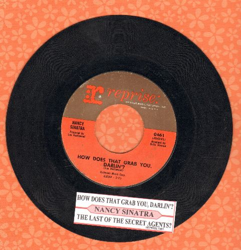 Sinatra, Nancy - How Does That Grab You, Darlin'?/The Last Of The Secret Agents (with juke box label) - EX8/ - 45 rpm Records