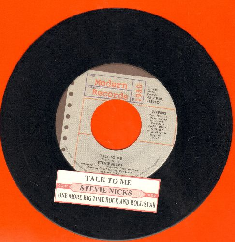 Nicks, Stevie - Talk To Me/One More Big Time Rock And Roll Star (with juke box label) - EX8/ - 45 rpm Records