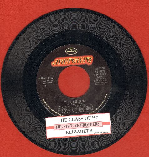 Statler Brothers - The Class Of '57/Elizabeth (with juke box label) - EX8/ - 45 rpm Records