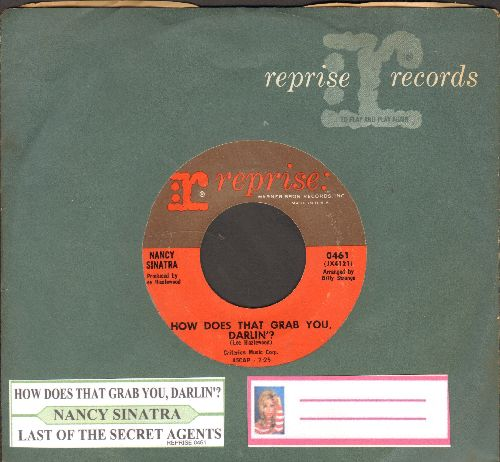 Sinatra, Nancy - How Does That Grab You, Darlin'?/The Last Of The Secret Agents (with juke box label and vintage Reprise company sleeve) - EX8/ - 45 rpm Records