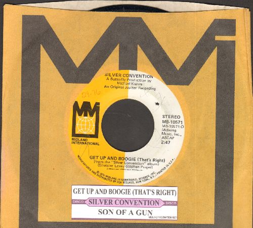 Silver Convention - Get Up And Boogie/Son Of A Gun (Disco-Club hit - follow-up to Fly Robin Fly) (MINT condition with company sleeve and juke box label) - M10/ - 45 rpm Records