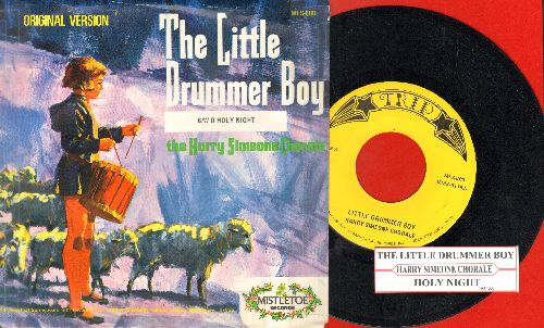 Simeone, Harry Chorale - The Little Drummer Boy/Holy Night (re-issue with picture sleeve and juke box label) - NM9/VG7 - 45 rpm Records