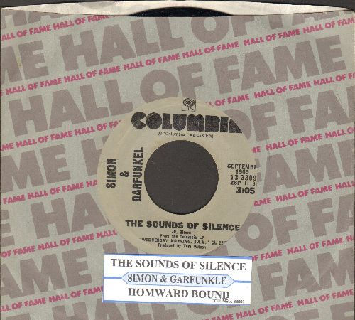 Simon & Garfunkel - The Sounds Of Silence/Homeward Bound (double-hit re-issue with juke box label and company sleeve) - NM9/ - 45 rpm Records