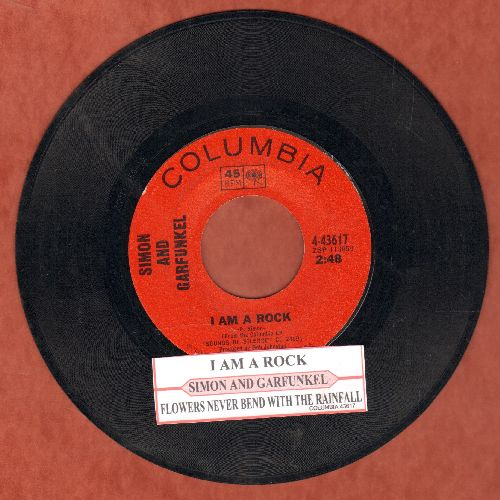 Simon & Garfunkel - I Am A Rock/Flowers Never Bend With The Rainfall (with juke box label) - EX8/ - 45 rpm Records