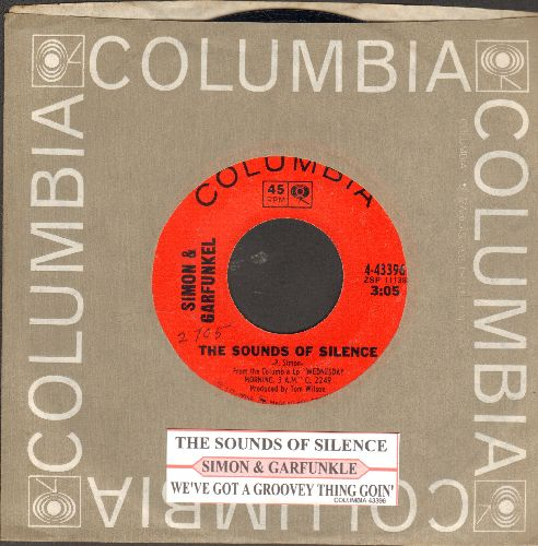 Simon & Garfunkel - The Sounds Of Silence/We've Got A Groovy Thing Goin' (first issue with juke box label and Columbia company sleeve) - NM9/ - 45 rpm Records
