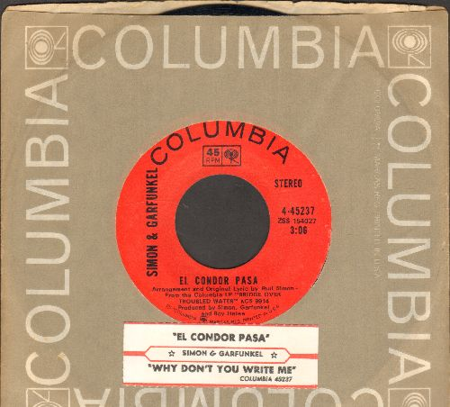 Simon & Garfunkel - El Condor Pasa/Why Don't You Write Me (with juke box label and company sleeve) - NM9/ - 45 rpm Records