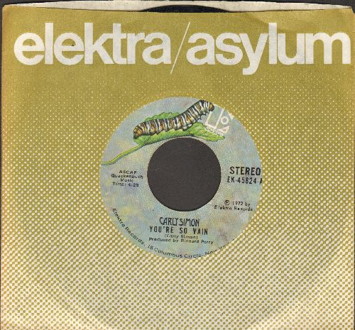 Simon, Carly - You're So Vain/His Friends Are More Than Fond Of Robin (with Elekta company sleeve) - EX8/ - 45 rpm Records