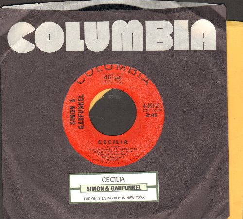 Simon & Garfunkel - Cecilia/The Only Living Boy In New York (with Columbia company sleeve) - VG7/ - 45 rpm Records