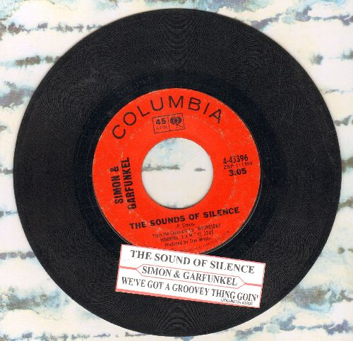 Simon & Garfunkel - The Sounds Of Silence/We've Got A Groovy Thing Goin' (with juke box label) - VG7/ - 45 rpm Records