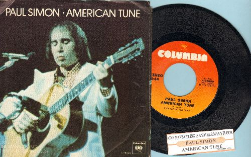 Simon, Paul - American Tune/One Man's Ceiling Is Another Man's Floor (with juke box label and picture sleeve) - NM9/EX8 - 45 rpm Records