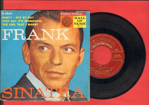 Sinatra, Frank - Nancy/Day By Day/They Say It's Wonderful/The Girl That I Marry (vinyl EP record with picture cover) - NM9/VG7 - 45 rpm Records