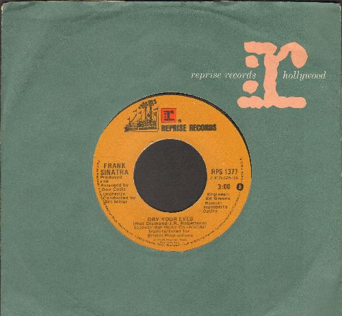 Sinatra, Frank - Dry Your Eyes/Like A Sad Song (with Reprise company sleeve) - EX8/ - 45 rpm Records