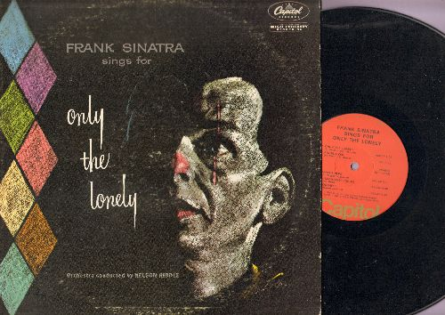Sinatra, Frank - Only The Lonely: Gone With The Wind, Blues In The Night, One For My Baby, Ebb Tide, What's New, Angel Eyes (Vinyl MONO LP record, orange label 1970s re-issue) - NM9/VG7 - LP Records