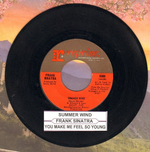 Sinatra, Frank - Summer Wind/You Make Me Feel So Young (with juke box label) - EX8/ - 45 rpm Records
