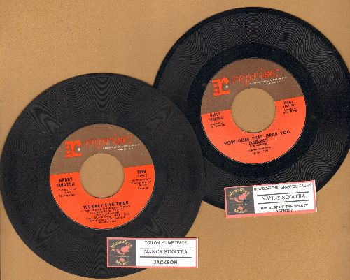 Sinatra, Nancy - 2 for 1 Special: How Does That Grab You, darlin'?/You Only Live Twice (2 vintage first issue 45rpm records with juke box labels for the price of 1!) - VG7/ - 45 rpm Records