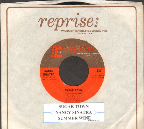 Sinatra, Nancy - Sugar Town/Summer Wine (with juke box label and vintage Reprise company sleeve) - EX8/ - 45 rpm Records