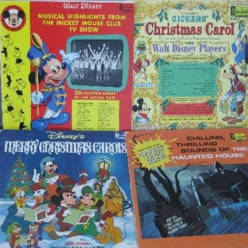 Disney - Disney Classic LP covers (4 Original covers, NO VINYL RECORDS!) - Covers (EXACTLY AS PICTURED!) are in very good or better condition, great for decorating a Themed Party or to replace missing/damaged covers. - /VG7/VG7 - Supplies