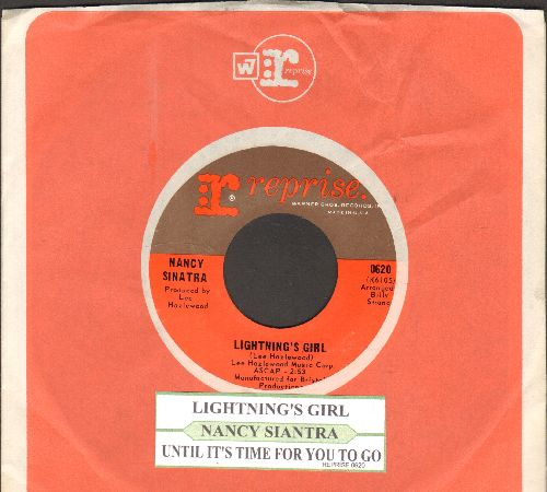 Sinatra, Nancy - Lightning's Girl/Until It's Time For You To Go (with juke box label and Reprise company sleeve) - NM9/ - 45 rpm Records