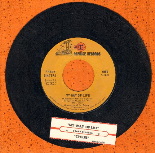 Sinatra, Frank - Cycles/My Way Of Life (with juke box label) - NM9/ - 45 rpm Records