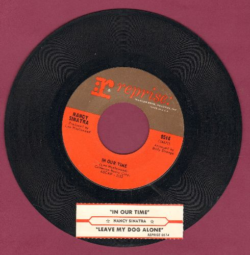 Sinatra, Nancy - Leave My Dog Alone/In Our Time (with juke box label) - NM9/ - 45 rpm Records
