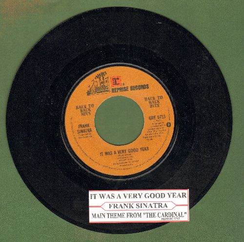 Sinatra, Frank - It Was A Very Good Year/Theme From -Carnival- (double-hit re-issue with juke box label) - NM9/ - 45 rpm Records