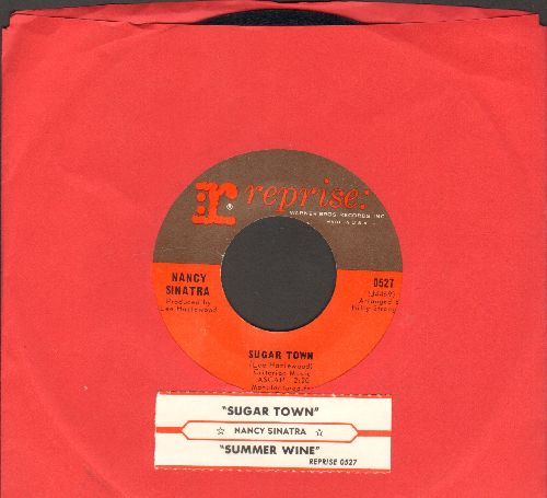 Sinatra, Nancy - Sugar Town/Summer Wine (with juke box label) - EX8/ - 45 rpm Records
