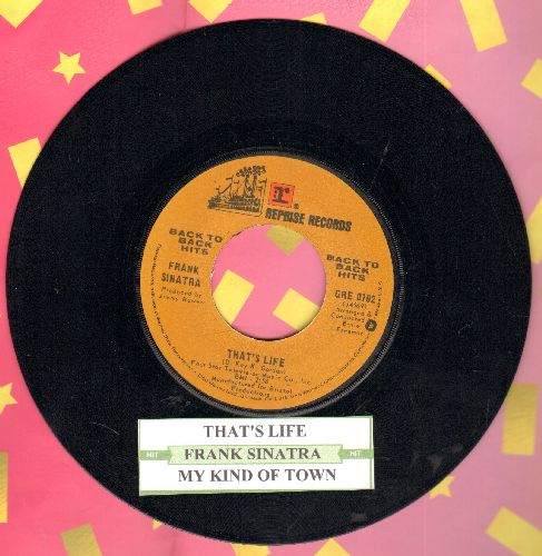 Sinatra, Frank - That's Life/My Kind Of Town (double-hit re-issue with juke box label) - NM9/ - 45 rpm Records