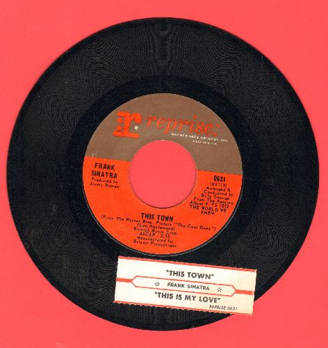 Sinatra, Frank - This Is My Love/This Town (with juke box label) - NM9/ - 45 rpm Records