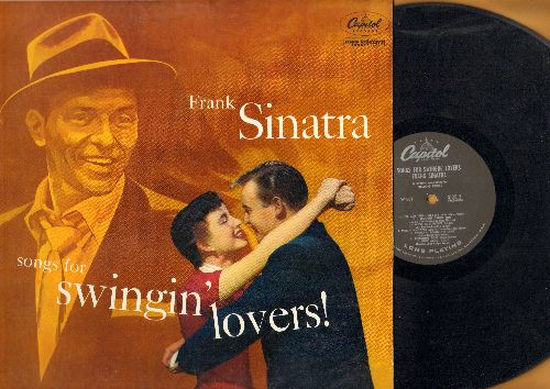 Sinatra, Frank - Songs For Swingin' Lovers!: Makin' Whoopee, Anything Goes, Pennies From Heaven, Too Marvelous For Words (vinyl MONO LP record, RARE gary label) - VG7/NM9 - LP Records