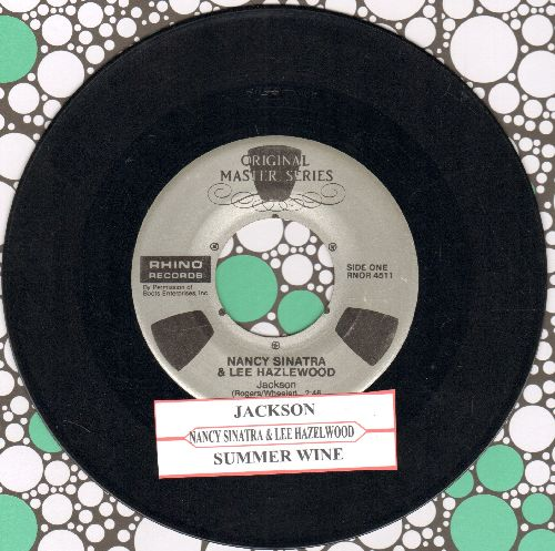 Sinatra, Nancy & Lee Hazlewood - Jackson/Summer Wine (double-hit re-issue with juke box label) - EX8/ - 45 rpm Records