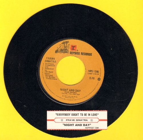 Sinatra, Frank - Night And Day/Everybody Ought To Be In Love (with juke box label) - EX8/ - 45 rpm Records