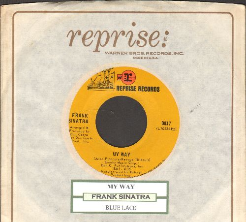 Sinatra, Frank - My Way/Blue Lace (with Reprise company sleeve and juke box label) - NM9/ - 45 rpm Records