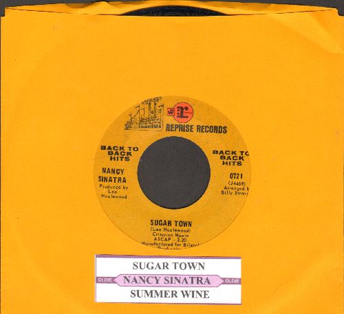 Sinatra, Nancy - Sugar Town/Summer Wine (re-issue with juke box label) - EX8/ - 45 rpm Records