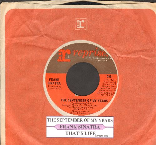 Sinatra, Frank - The September Of My Years/That's Life (with vintage juke box label and Reprise company sleeve) - EX8/ - 45 rpm Records
