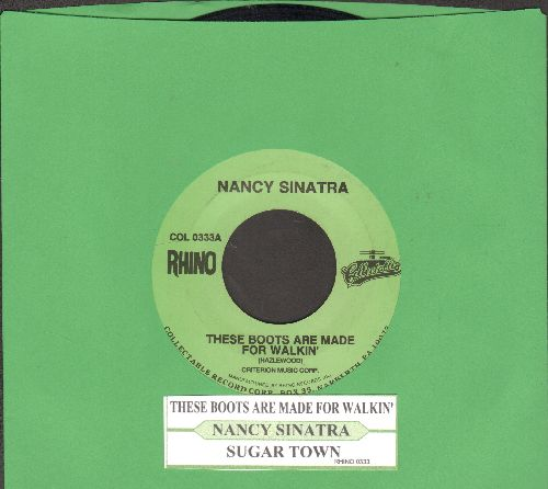 Sinatra, Nancy - These Boots Are Made For Walkin' (Juke Box Favorite!)/Sugar Town (double-hit re-issue with juke box label) - NM9/ - 45 rpm Records
